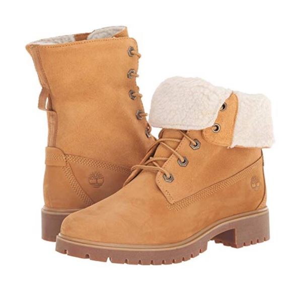 Womens Timberland Jayne Fleece Boot Wheat